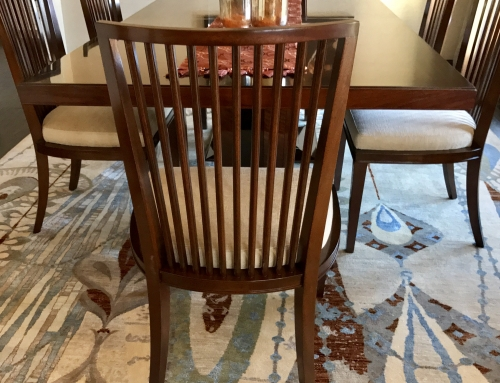 African Mahogany Contemporary Dining Chairs