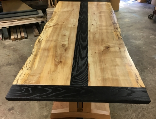 Carbonized Ash and Spalted Maple Table